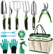 Siebwin 12 Stück Gartenwerkzeuge Set Edelstahl