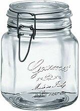 Siegelglas-Speicher-Glas-Lebensmittel mit Schnalle