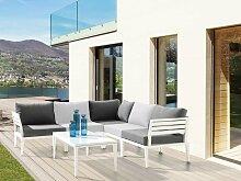 Sieger Cannes Loungemöbel Set 4-tlg. weiß/grau
