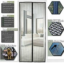 SIEGES Fliegengitter Tür Insektenschutz Magnet Fliegenvorhang110*220 | 90*210 - Klebmontage ohne Bohren - Vorhang für Balkontür Wohnzimmer Schiebetür Terrassentür