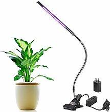 SIEGES LED Grow Pflanzenlampe für Zimmerpflanzen  5w einstellbar 3 Ebene dimmbare Clip Schreibtischlampe mit 360 ° flexibler Schwanenhals für Büro, Haus, Indoor-Garten Gewächshaus Pflanzenlicht Grow Licht Pflanzen Lampen