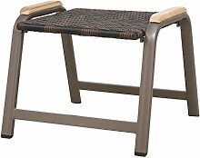Siena Garden 120183 Hocker Aros Aluminium-Gestell bronze Gardino®-Geflecht maron Applikationen Teak FSC® 100%
