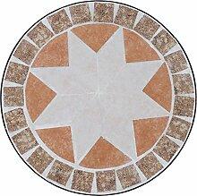 Siena Garden Blumenhocker Set Finca rund, 3-teilig Metall / Mosai, Durchmesser 22 x 49 cm / 25 x 59 cm / 29 x 69 cm, schwarz