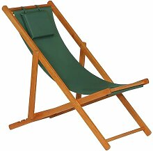 Siena Garden Faro Beach-Liegestuhl Holz/Textilene