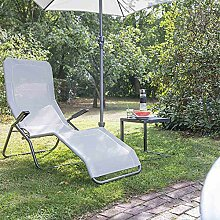 Siena Garden Kippliege Anco anthrazit/hellgrau