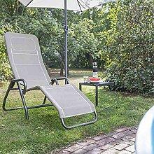 Siena Garden Kippliege Bito anthrazit/hellgrau