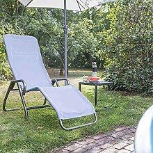 Siena Garden Kippliege Bito anthrazit/taubenblau