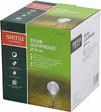Siena Garden Leuchtkugel Solar, Gartendeko, weiß, Ø15cm, 681977