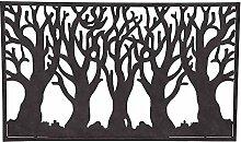 Siena Garden Wandbild Wald, Gartendeko,Metall, 80x47cm, rost, 365123