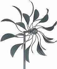 Siena Garden Windrad Bora, Metall, 50 x 24 x 198 cm, grau