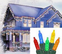 Sienna 24617245 Multicolored LED M5 Icicle Christmas Lights with Green Wire, Set of 70 by Sienna