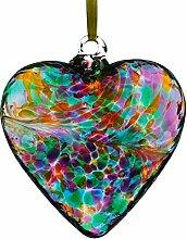 Sienna Glass Freundschafts-Herzen, Mehrfarbig,