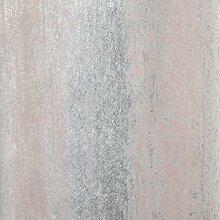 Sienna Schatten Tapete Dunkelrosa und Silber