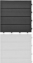 SIENOC 11 Stück/ca. 1m² Terrassen-Fliese aus WPC