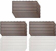 SIENOC 11 Stück/ca. 2 m² WPC Terrassenfliesen