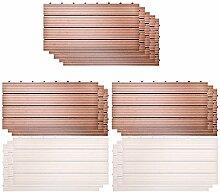 SIENOC 11 Stück/ca. 2m² WPC Terrassenfliesen