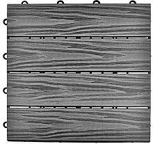 SIENOC Terrassen-Fliese aus WPC Kunststoff,