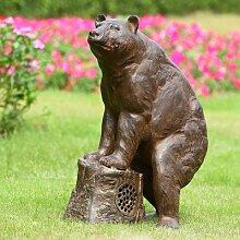 Sierra Bär Garten Statue mit Bluetooth-Lautsprecher