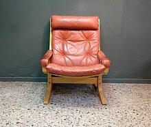 Siesta Leder Sessel von Ingmar Relling für
