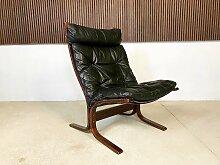 Siesta Sessel mit hoher Rückenlehne aus Leder von