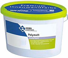 Sigma Polymatt Wandfarbe Innenfarbe Klasse 1 Weiß