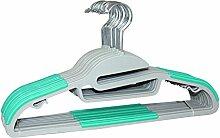 Signature Home ABS Kleiderbügel, Grau, mit Schwarz Streifen, 18Stück Gray with Emerald Strips