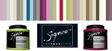Signeo 0,8 L. Bunte Wandfarbe, WARM GREY, Grau matt, elegant-matte Oberflächen, Innenfarbe