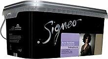 Signeo 2,5 L. Bunte Wandfarbe, CLAY, Braun seidenglänzend, elegant-schimmernde Oberflächen, Innenfarbe