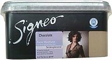 Signeo Bunte Wandfarbe 2,5L Innenfarbe Chocolate Seidenglänzend