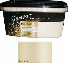 Signeo Wandfarbe Gold Edition 1 L. Cool GOLD Glänzend, metallische Optik