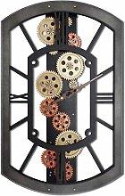 Signes Grimalt 1013–Uhr mit Uhrwerk Wanduhr Kinderzimmer anthrazit und kupfer
