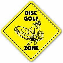 SignJoker] Disc Golf Zone Schild Scheiben Frisbee