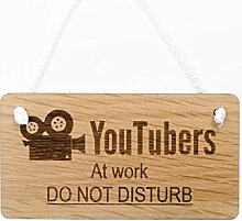 Signs & Numbers Holz Hängeschild - Youtubers bei