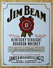 signs-unique de Nostalgie-Blechschild - Jim Beam -