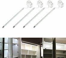 Signstek 4 Stk LED Küche Unterbauleuchte Energiesparlampe Wandleuchte Schranklampe mit Schalter und Stecker Energieklasse A (Neutral Weiß)
