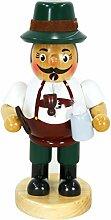 Sigro Bayerische Räucherstäbchen Raucher Figur, 19cm, mehrfarbig