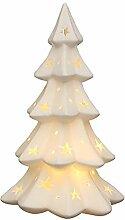 SIGRO Gold Porzellan Weihnachtsbaum-Windlicht