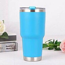 SijiHua Thermosbecher Autobecher Kaffee 500ml blau