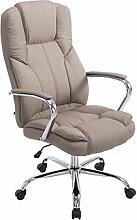 SIKALO Büro-Stuhl BIG X, stabiler Schreibtischstuhl Sessel in der XXL Variante - Belastbarkeit: 210 kg, höhenverstellbar, drehbar und mit Wippmechanismus; Farbe Taupe