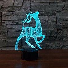 Sikawild 3D Nachtlicht 7 Ändern Remote Touch