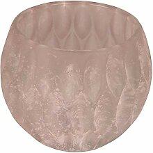 Silamo Windlicht, Glas, rosa, ca. H10 cm
