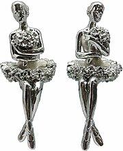 Silber Emaille Wunderschöne Ballerina Figur