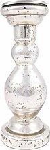 Silber Glas Ständer Säule Kerzenhalter Home