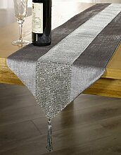 Silber/Grau Diamant Sparkle Samt Bling
