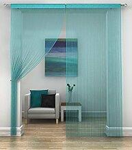 Silber klassisch Türkis Vorhang Paravent Fenster, Türvorhang 90 x 200 cm, ...