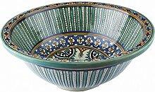 Silber Oval geformt Kupfer handgefertigtes marokkanisches Bad - Formteile Waschbecken- gehämmert & eingraviert - L38 W29 H15 -
