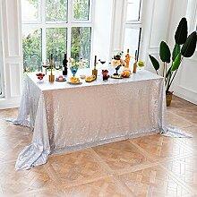 Silber Pailletten Tischdecke, Weihnachten