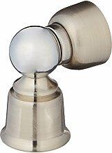 Silber Ton Metall Tür Magnethalter Stopper Türstopper Fangen 34mm x 58mm