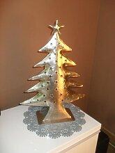 Silberfarbener Weihnachtsbaum 50 cm hoch mit