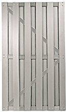 Silbergraues WPC Garten-Zaun Tor im Maß 90 x 180 cm ( Breite x Höhe ) aus einem hochwertigen 60/40 Holz/Kunststoff-Komposit Material aus der Sichtschutzzaun-Serie Kiel